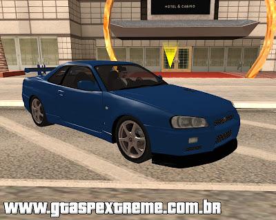 Nissan Skyline GT-R R34 V-Spec II 2002 para grand theft auto
