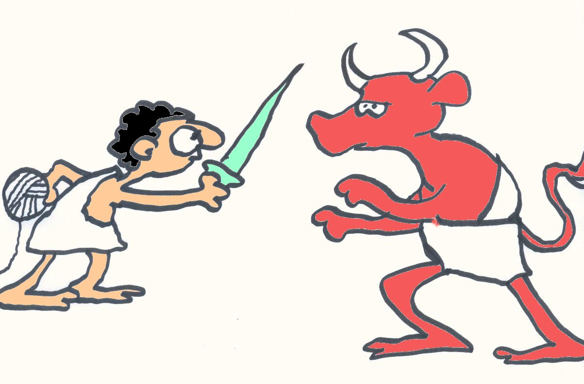 Theseus Cartoon