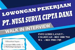 Lowongan Kerja pada PT Nusa Surya Cipta Dana