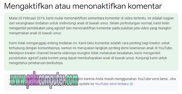 peraturan komentar baru di youtube