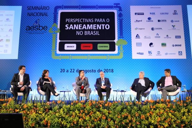 Representantes de candidatos à Presidência da República apresentam propostas para o saneamento conforme os respectivos planos de governo