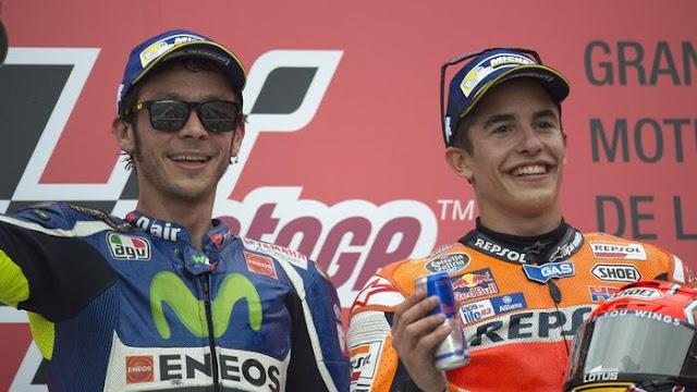 Salaman dengan Rossi, Marquez: Momennya Ibarat Cium Kekasih