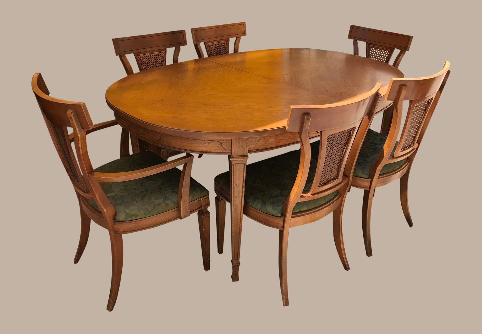 uhuru furniture collectibles walnut dining table 6 chairs 295