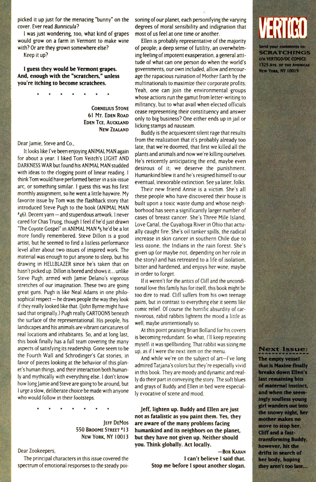 Read online Animal Man (1988) comic -  Issue #68 - 28