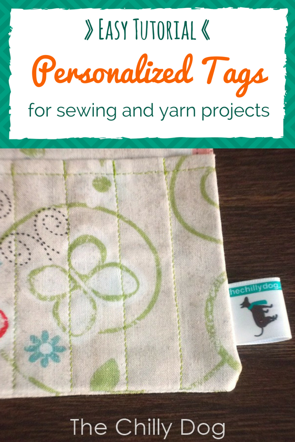 Tutorial: How to make your own personalized, sewing tags for your handmade sewing, knit and crochet projects.