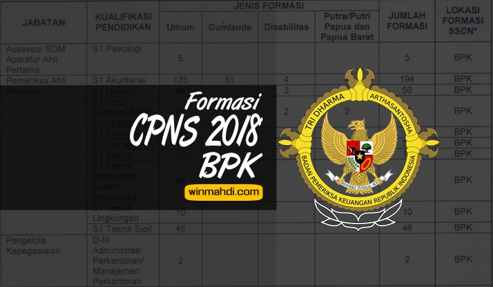 Formasi CPNS BPK