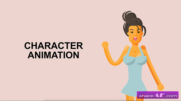 VIDEOHIVE SEXY GIRL CHARACTER RIGGED ANIMATION - Free