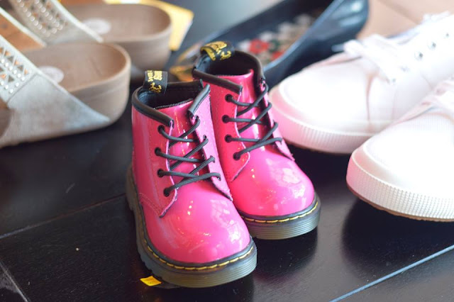 Hot Pink baby Dr Martens at The Hut Summer Event