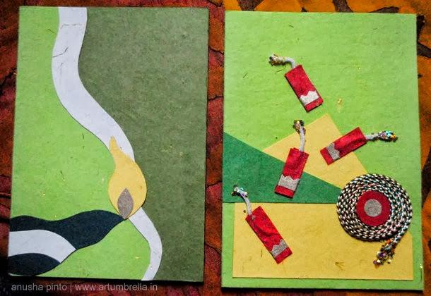 Diwali Cracker card DIY