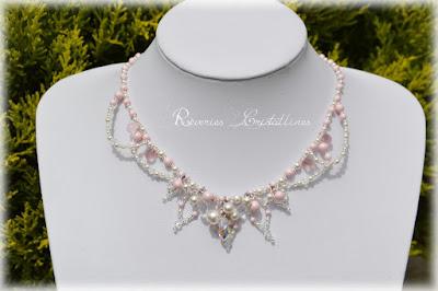 collier perles et cristaux pour mariage