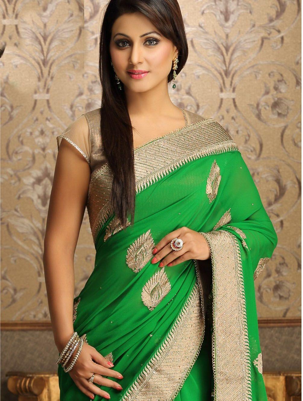 Hina Khan Hot Sext Tight Saree Pants Figure Body Sweet -2288
