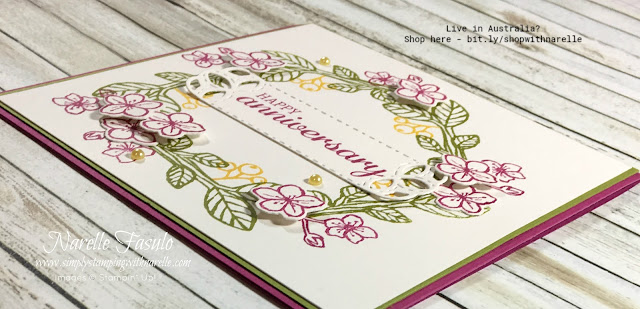 Create stunning cards and gifts with the gorgeous Best Birds stamp set. And if you have someone who is not a fan of birds, you just don't put one on, like on this card. You can still create a beautiful floral card minus the birds. See the stamp set here - http://bit.ly/2Md8ZLb