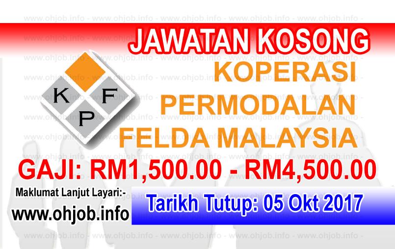 Jawatan Kerja Kosong Koperasi Permodalan FELDA Malaysia Berhad logo www.ohjob.info oktober 2017