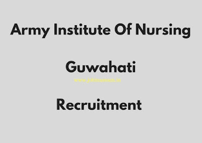 Army Institute Of Nursing, Guwahati Recruitment 2017