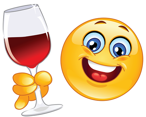 Wine smiley