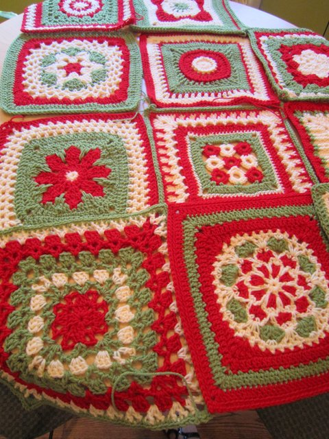 The Harris Sisters Christmas Granny Square Afghan