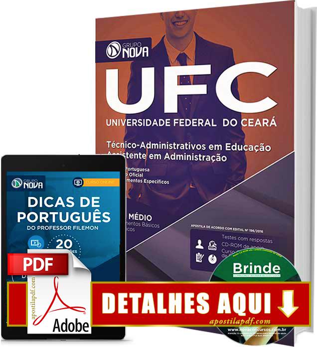 Apostila UFC 2016 Assistente em Administração Impressa
