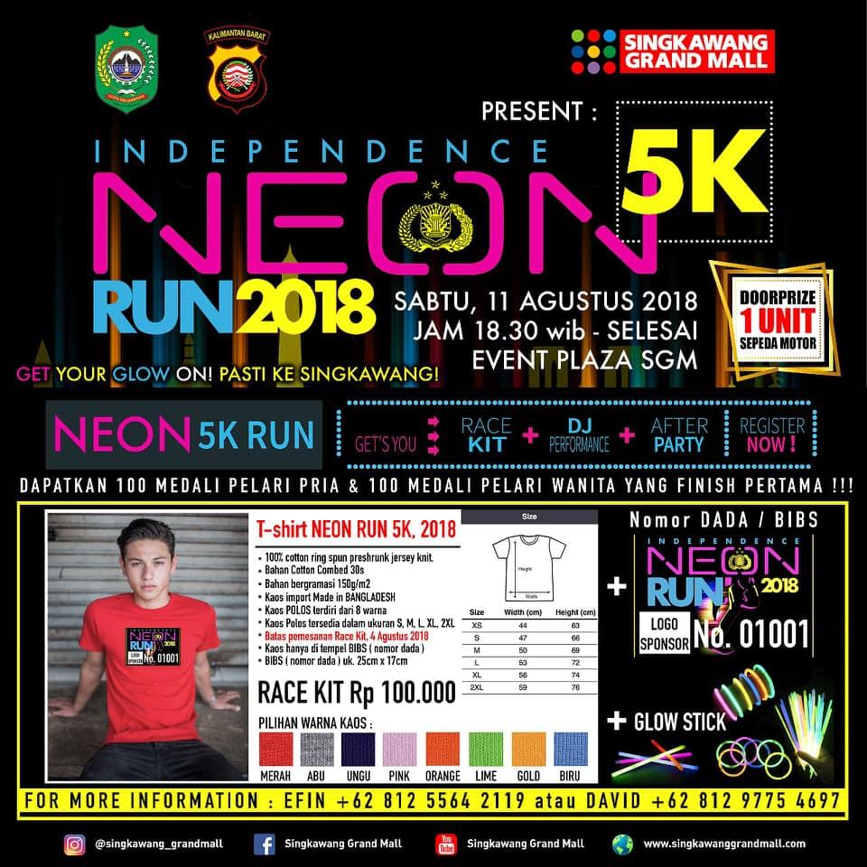 Independence 5K Neon Run • 2018