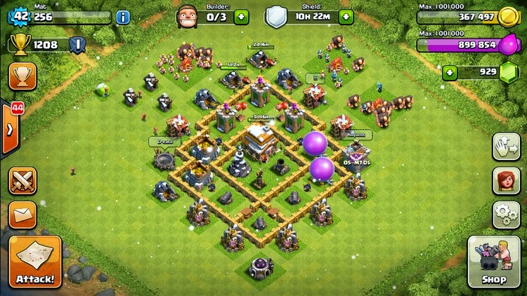 Base Coc Th 5 Anti Rata 11