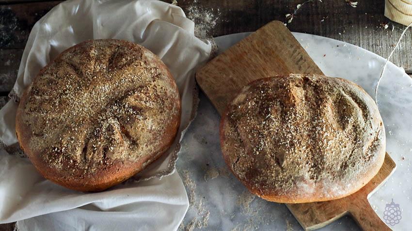 hogaza de pan masa madre