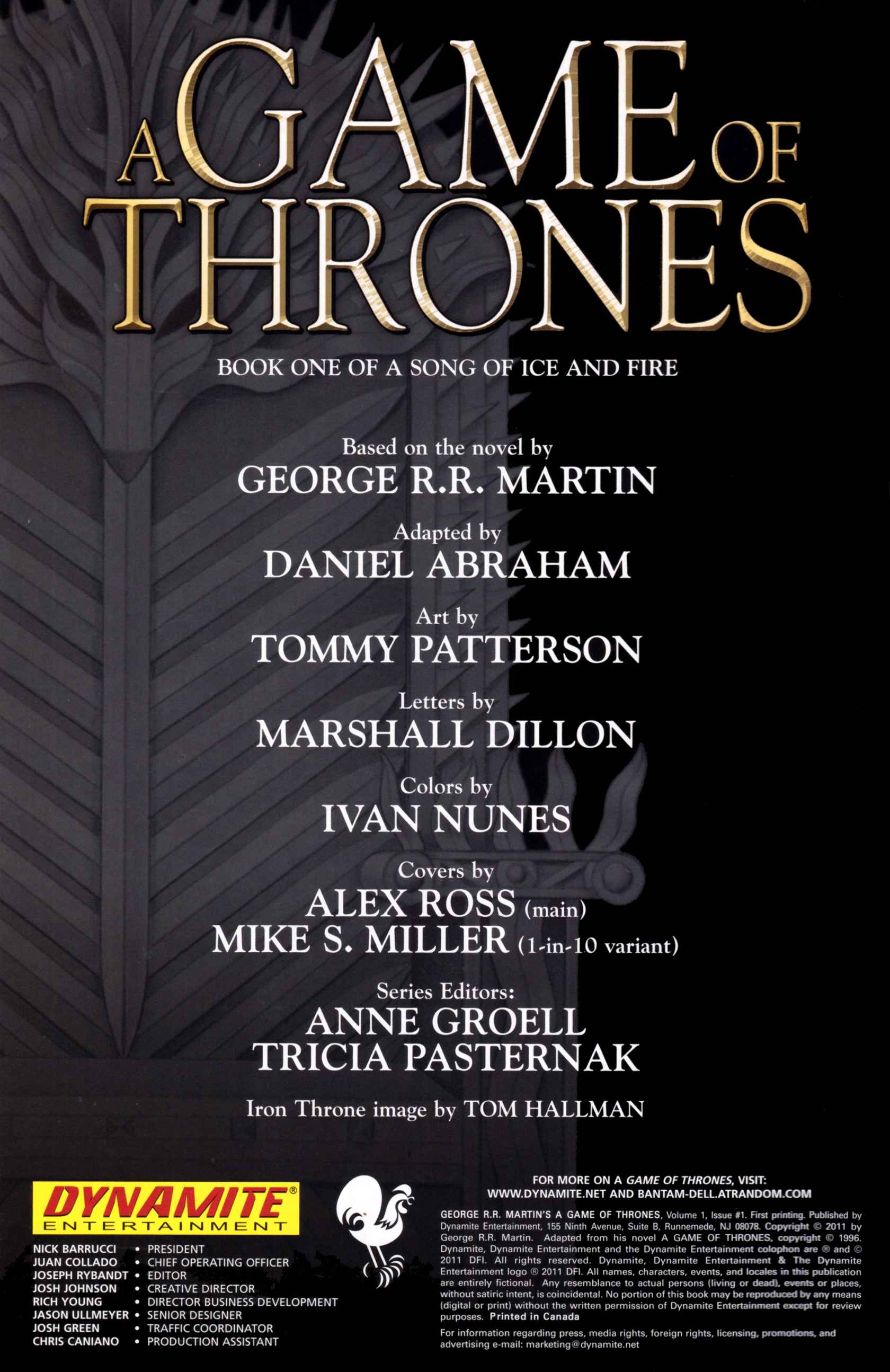 Read online A Game Of Thrones comic -  Issue #1 - 2