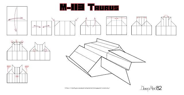 Infografía avión de papel M-113 Taurus