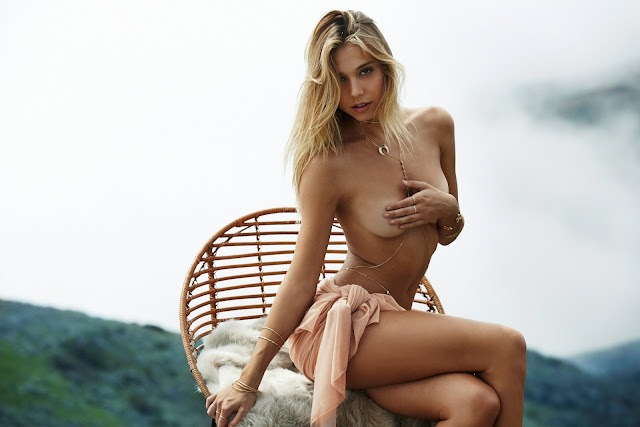 Alexis Ren goes topless for the Lili Claspe Jewellery Lookbook