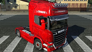 Red Scania Streamline skin mod by Ghass72