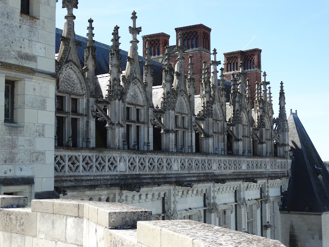 close up of roof and window details from the terrace at Chateau d'Amboise