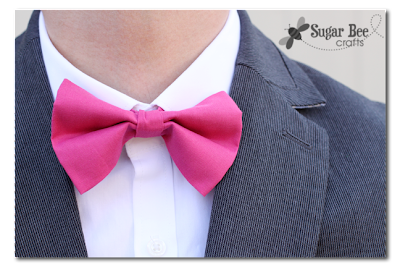 Simple Pink Bow Tie