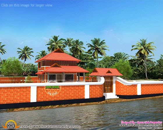 Backwater frontage home