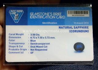 Royal Blue Saphire + Memo - ZP 574