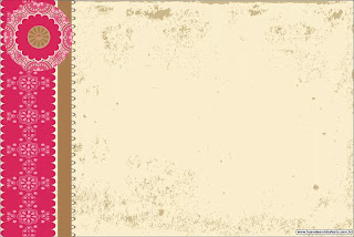 Retro Pink and Brown: Free Printable Invitations.