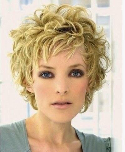 Summer Hairstyles for Short Hair, Messy Curly Haircut