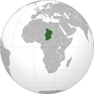 Gambar Peta letak Negara Chad