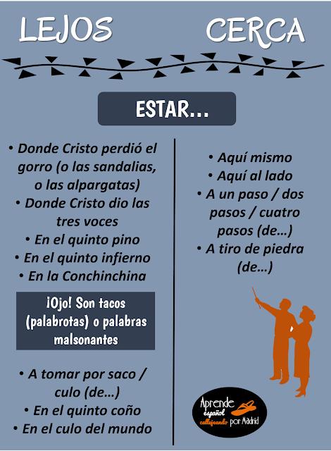 expresar distancia en español