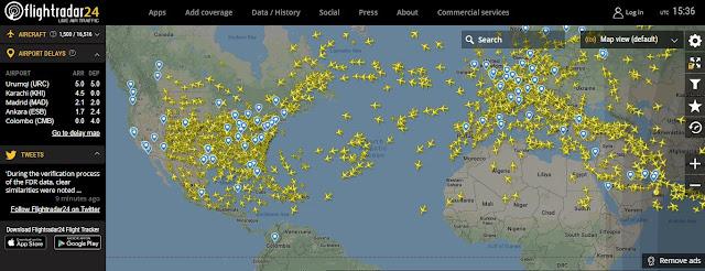 rastreador de vuelos