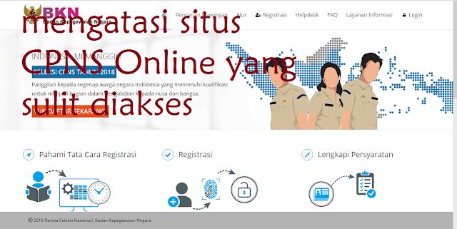 Cara Mengatasi Situs CPNS Online yang Lelet Sulit diakses