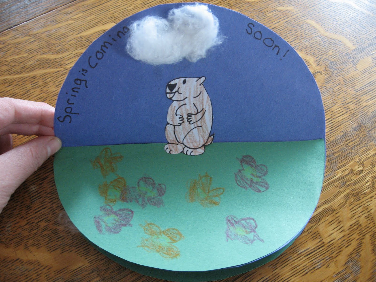 Almost Unschoolers Groundhog Day Craft