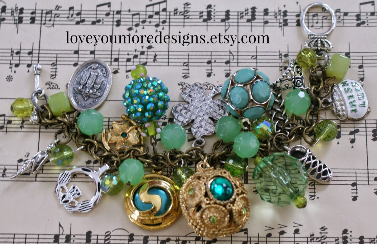 irish dance charm bracelet
