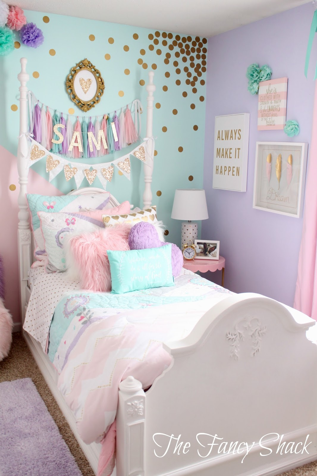 Bedroom Girl Accessories The Fancy Shack Pastel Girls Room Makeover