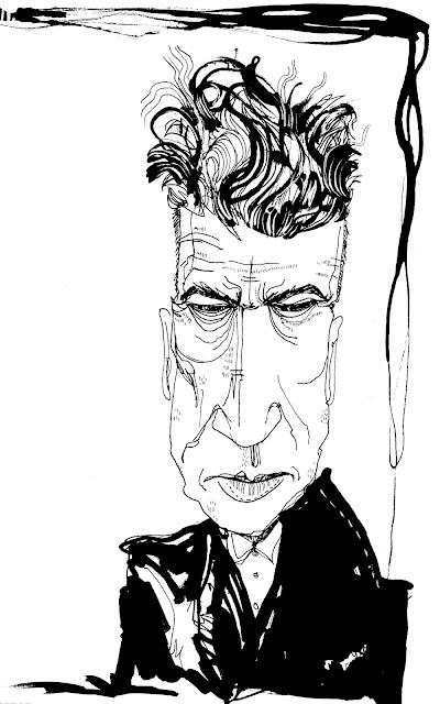 David Lynch Portrait Black and White