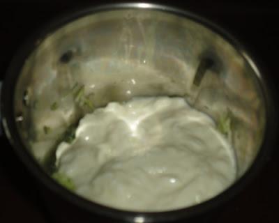 yogurt poured