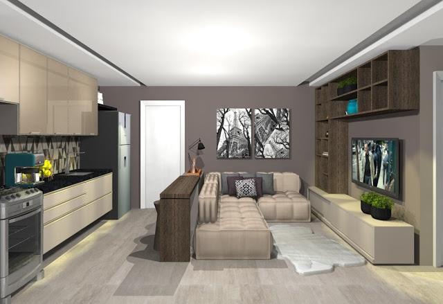apartamento-decoração-sala-cozinha-integrada
