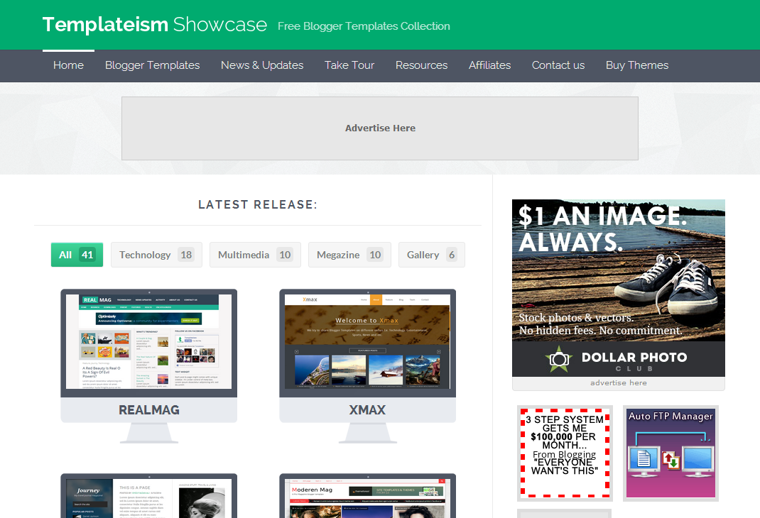 Professional Blogger Templates Templeteism