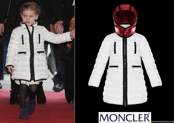 Princess Gabriella wore Moncler YVES Long Parka