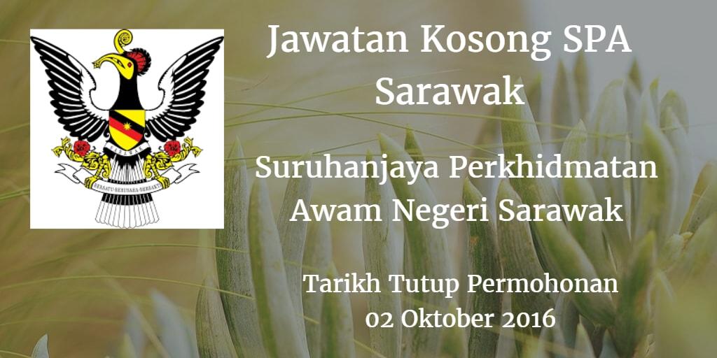 Jawatan Kosong SPA Sarawak 02 Oktober 2016