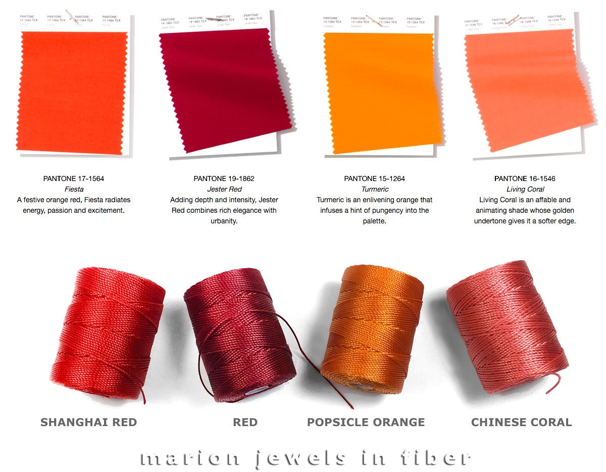 Marion Jewels in Fiber - News and Such: 2019 Pantone ...