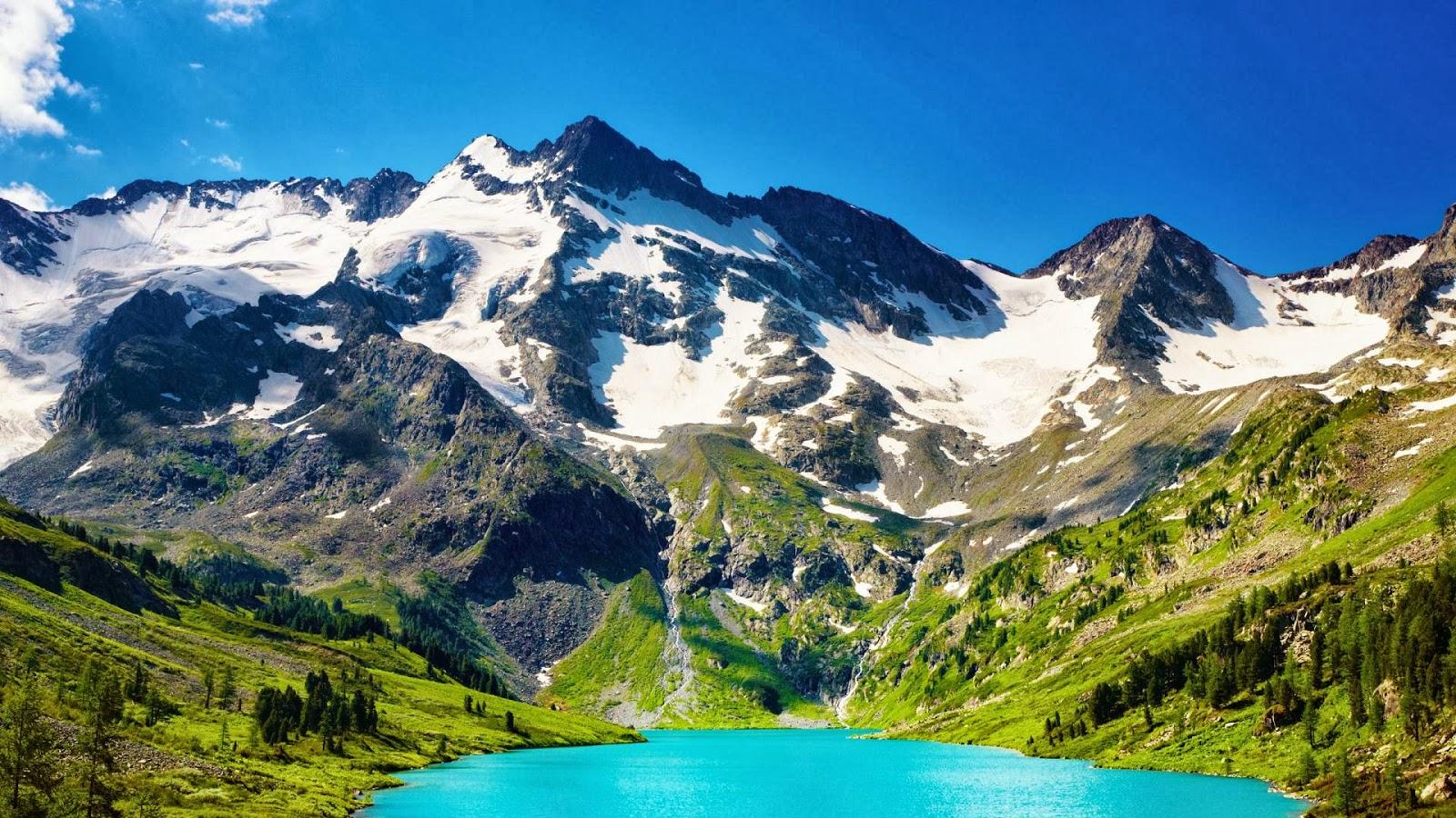 Potentes Montañas Nevadas Fondos De Pantalla: Fondos De Montañas Fondos De Pantalla De Montañas