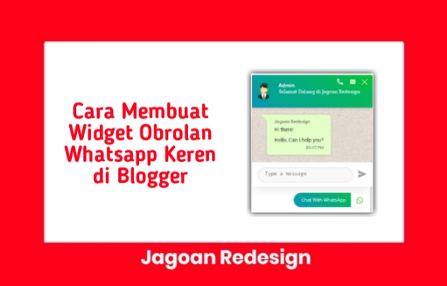 Cara Membuat Widget Obrolan Whatsapp Keren di Blogger